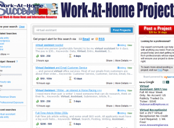 New Freelance Job Board at Work-At-Home Success