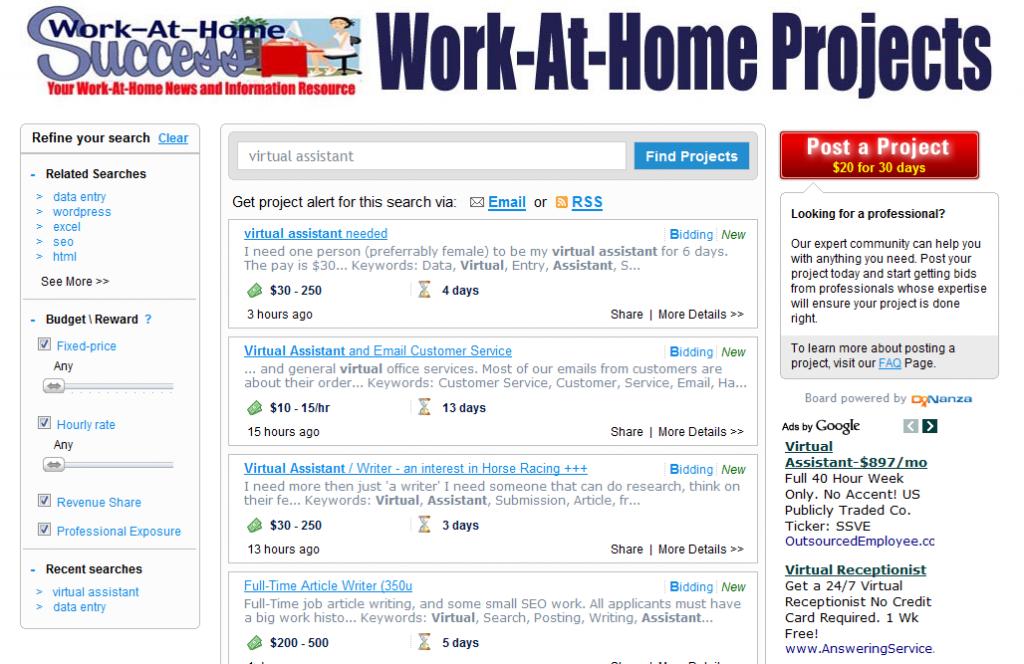 New Freelance Job Board at Work-At-Home Success